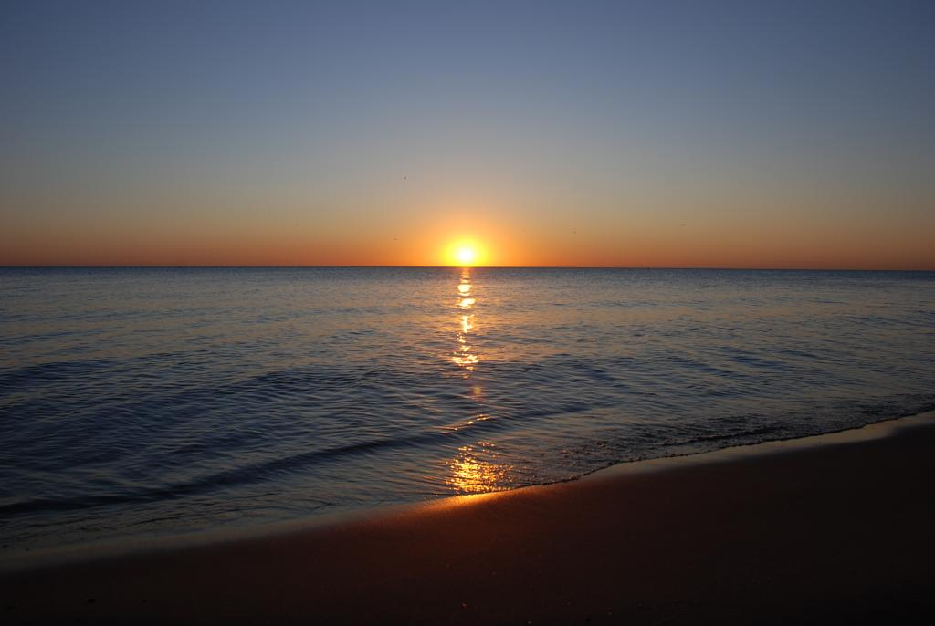 Изгрев на езерото Мичиган-Чикаго,САЩ