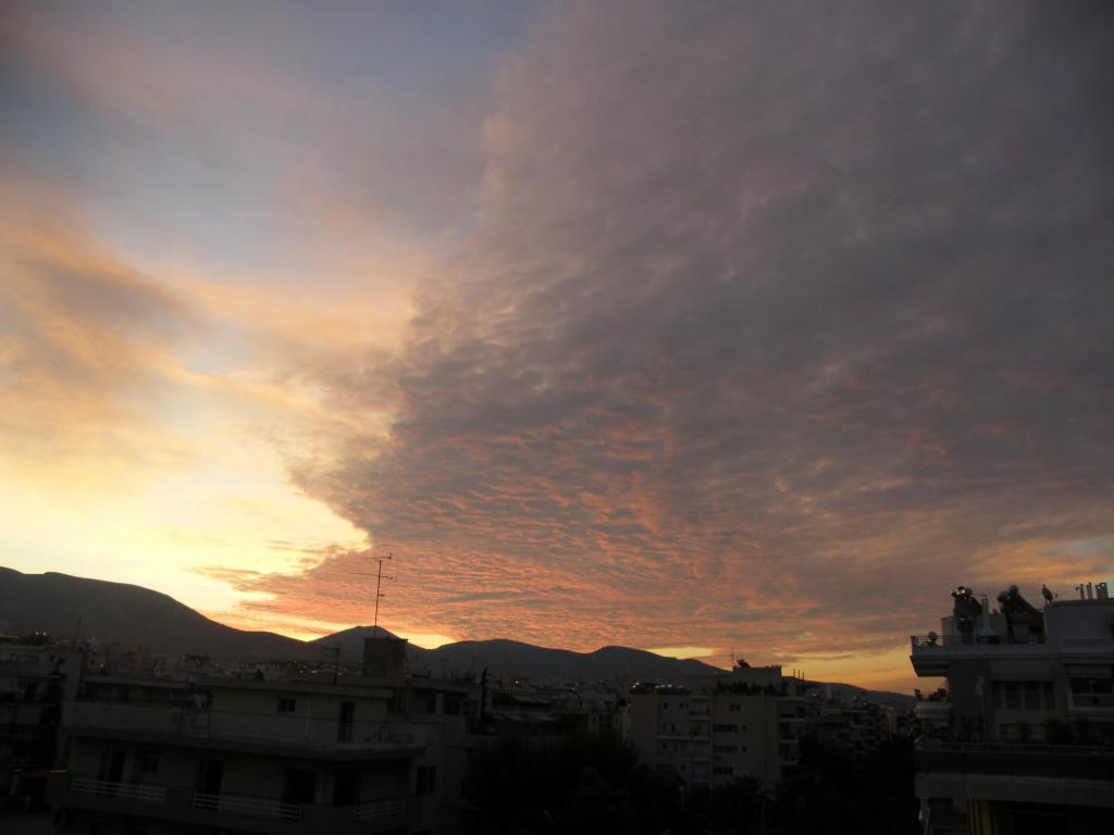 облаци при изгрев