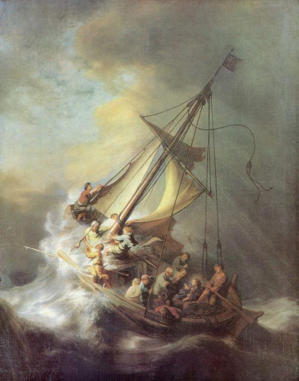 Христос по време на бурята в Галилейско море от Рембранд