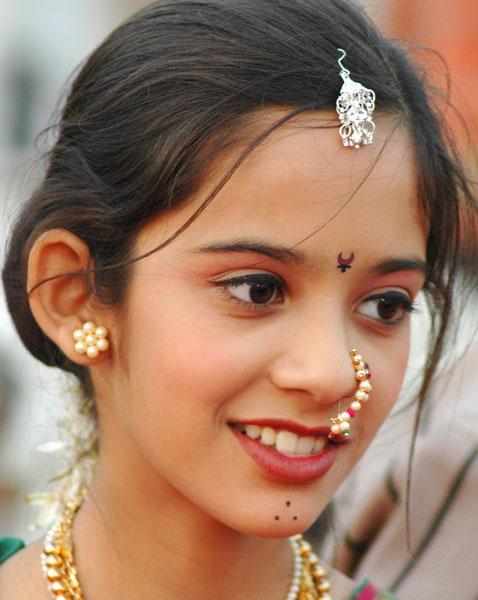 Красиво Индийско момиче