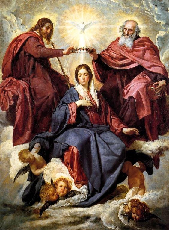 Коронацията на Дева Мария, Веласкес