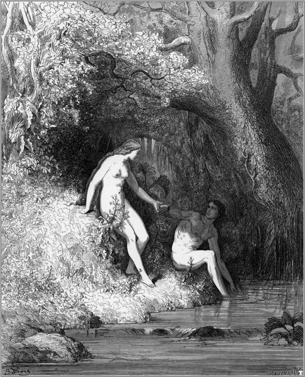 Адам и Ева. Густав Доре
