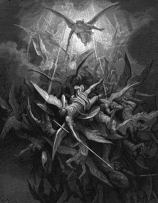 Победата на Архангел Михаил, Густав Доре