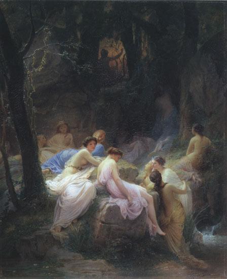 Нимфи, потопени в музиката на Орфей