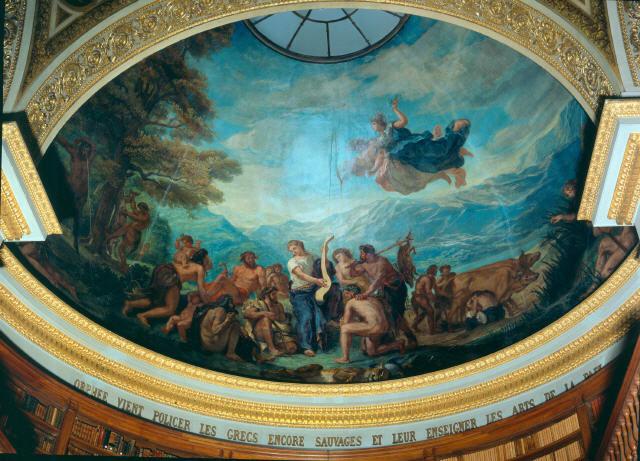 Орфей идва за да въведе ред сред все още дивите Гърци и за да ги научи на изкуствата на мира