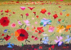 Макове - текстилен панел