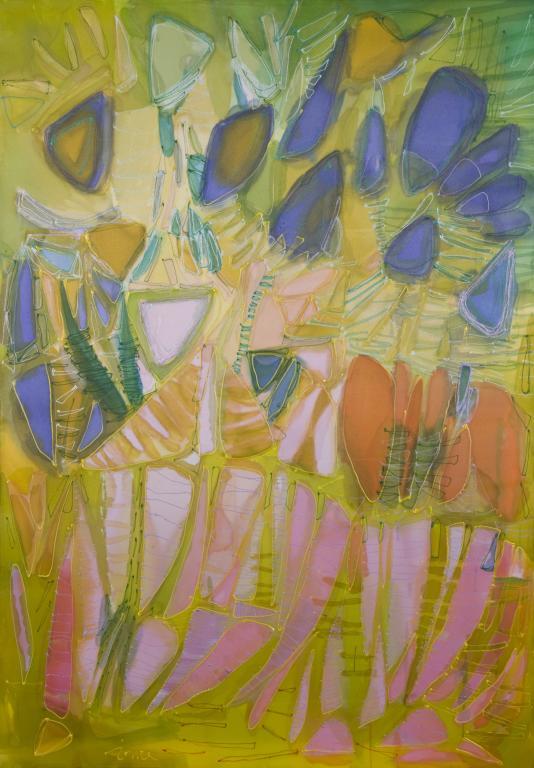 WATER STRUCTURES-рисунки върху сатен изложба Ина Трифонова
