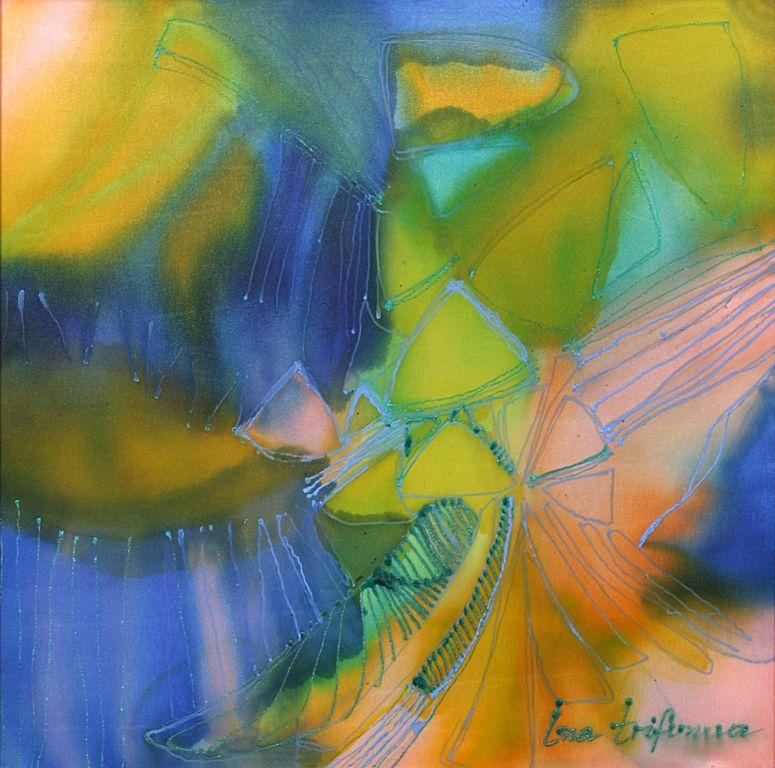 """Another dimension II"", cold batik, Ina Trifonova"