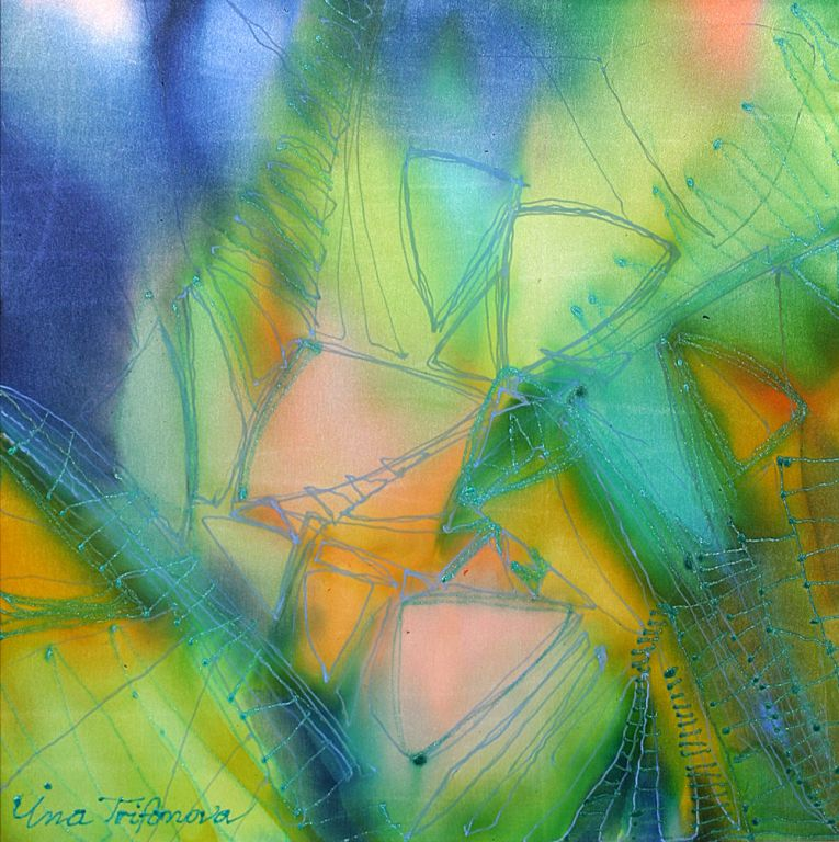"""Another dimension I ""- cold batik, Ina Trifonova"